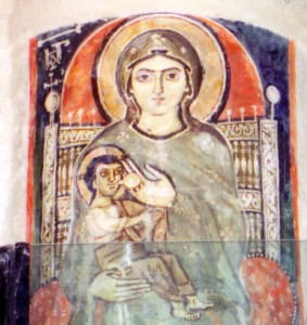 The nursing Virgin Mary, Monastery of the Syrians, Egypt (Photo: Schroeder)